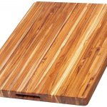 TeakHaus Rectangle Cutting Board with Hand Grip