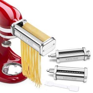 KENOME 3-Piece Pasta Roller & Cutter Attachment Set