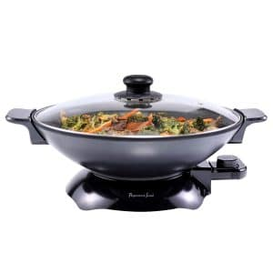 CucinaPro Electric Skillet with Tempered Glass Lid- Professional Grade Non-stick Cooker w Stainless Steel Body