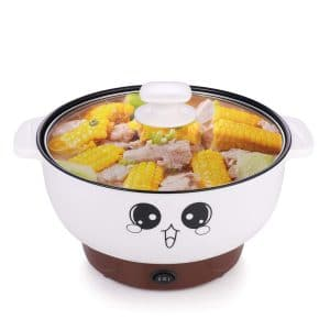 MINGPINHUIUS 4-in-1 Multifunction Electric Cooker Skillet Wok Electric Hot Pot